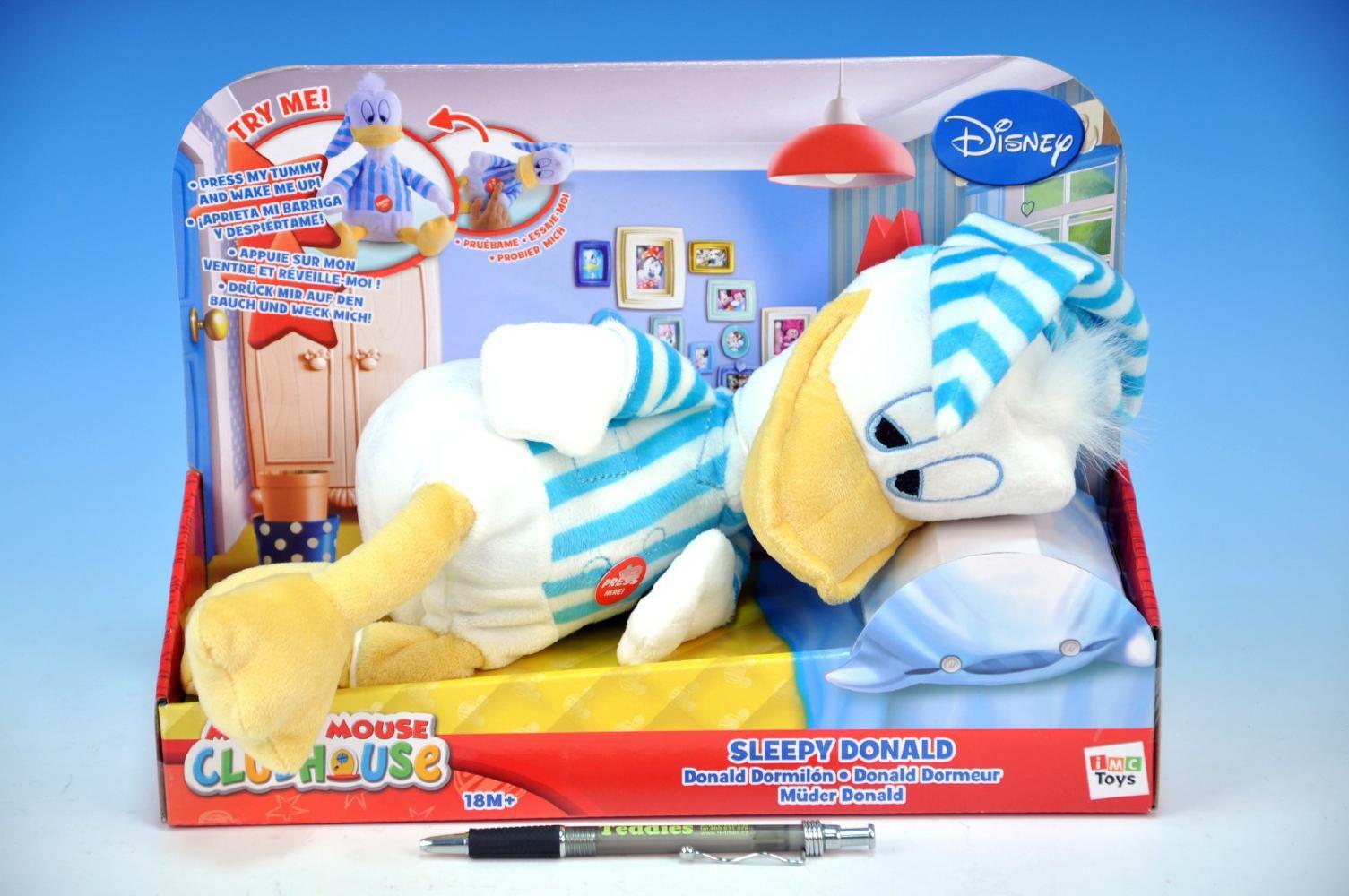 Donald plyšový spící