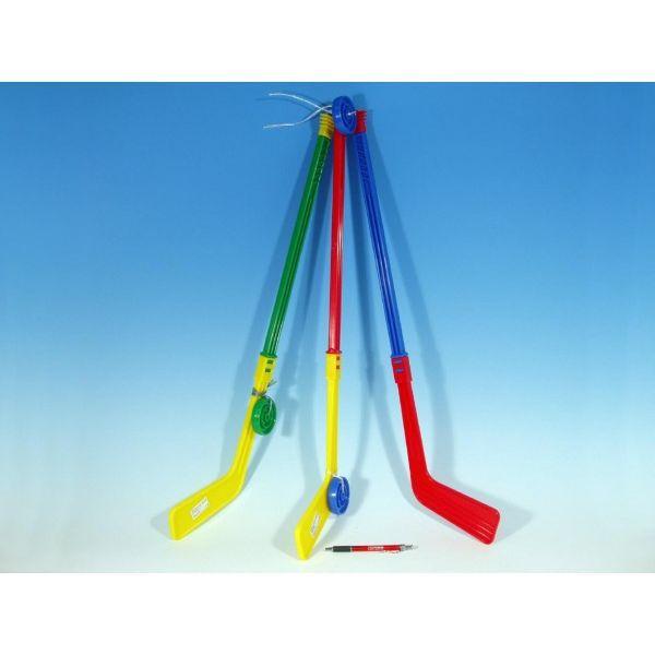 Hokejka plastová s pukem