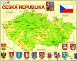 Mapa Česká republika 56dílků