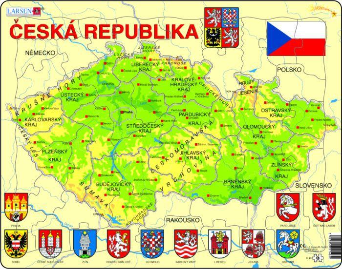 Mapa České republiky 56 dílků