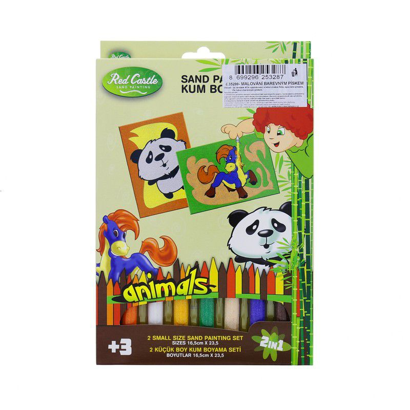 Pískování panda a koník