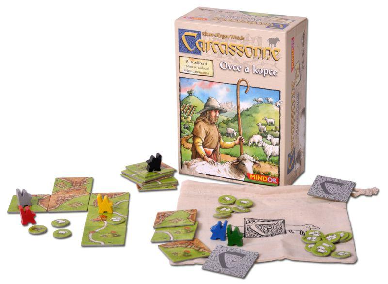Desková hra Carcassone - rozšíření 9 Ovce a kopce