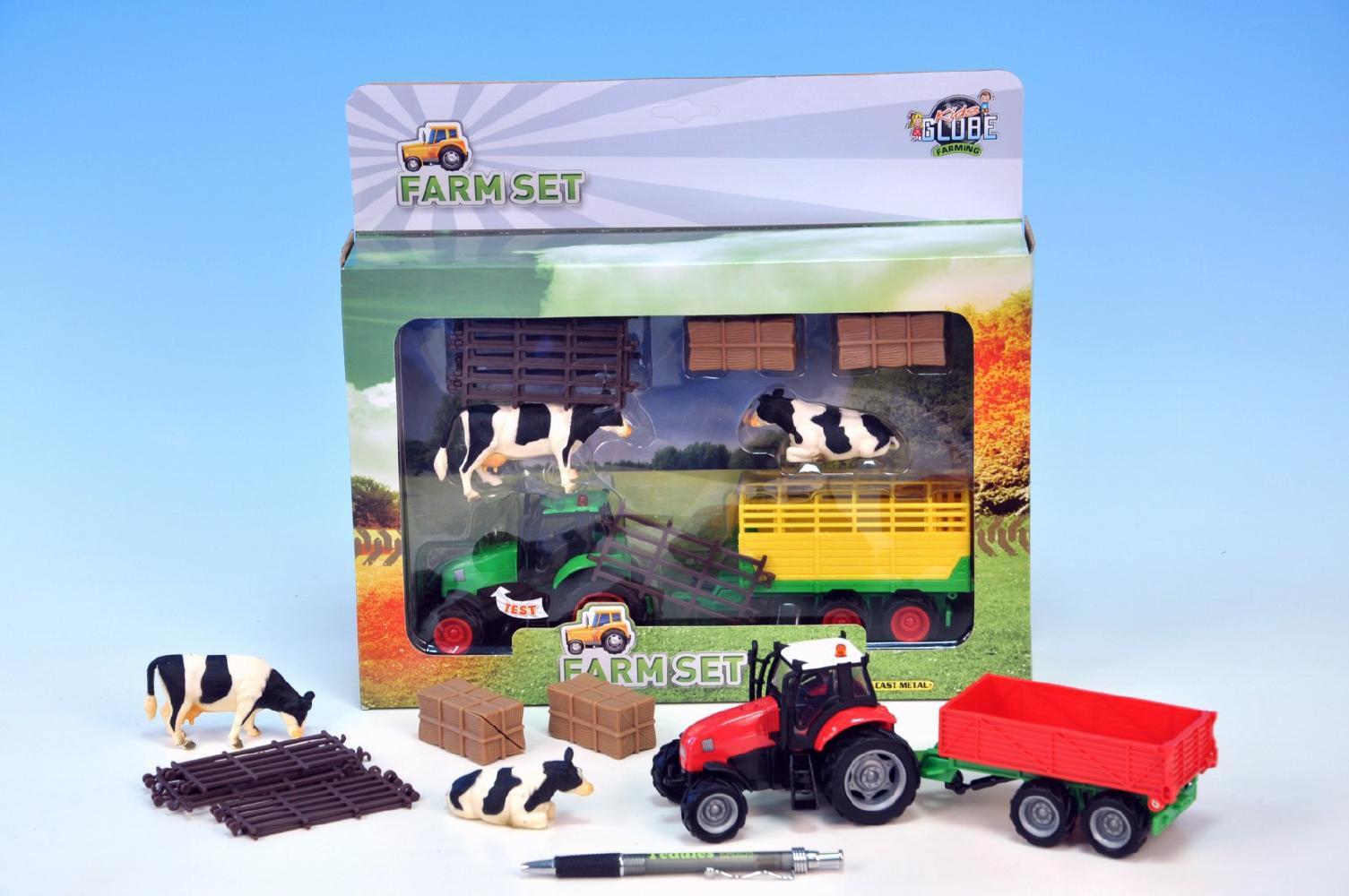 Traktor s vlekem a doplňky
