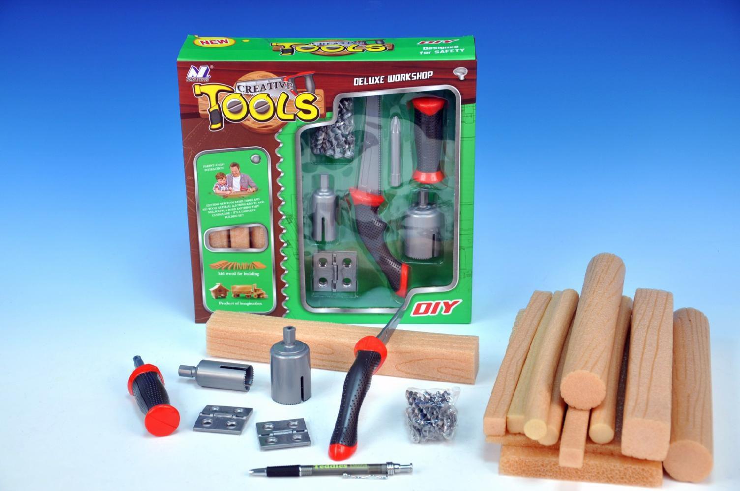 Sada Malý stavař, nářadí + materiál v krabičce MIKRO TRADING