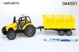 Traktor s vlekem žlutý