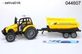 Traktor s vlekem žlutý sklápěč