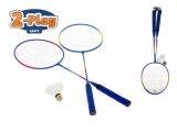 Badmintonové rakety kov 2ks s košíčkem