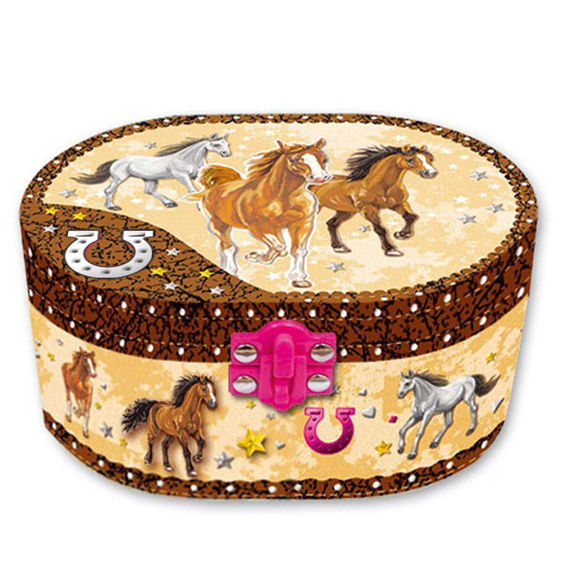 Hrající šperkovnice - koně