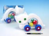 Kočka s míčky tahací plast