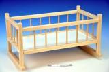 Zvětšit fotografii - Kolébka dřevěná pro panenky 49x28x27 cm