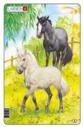 Puzzle Koně - černý a bílý 10dílků