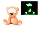 Medvídek 30cm svítící ve tmě oranžový