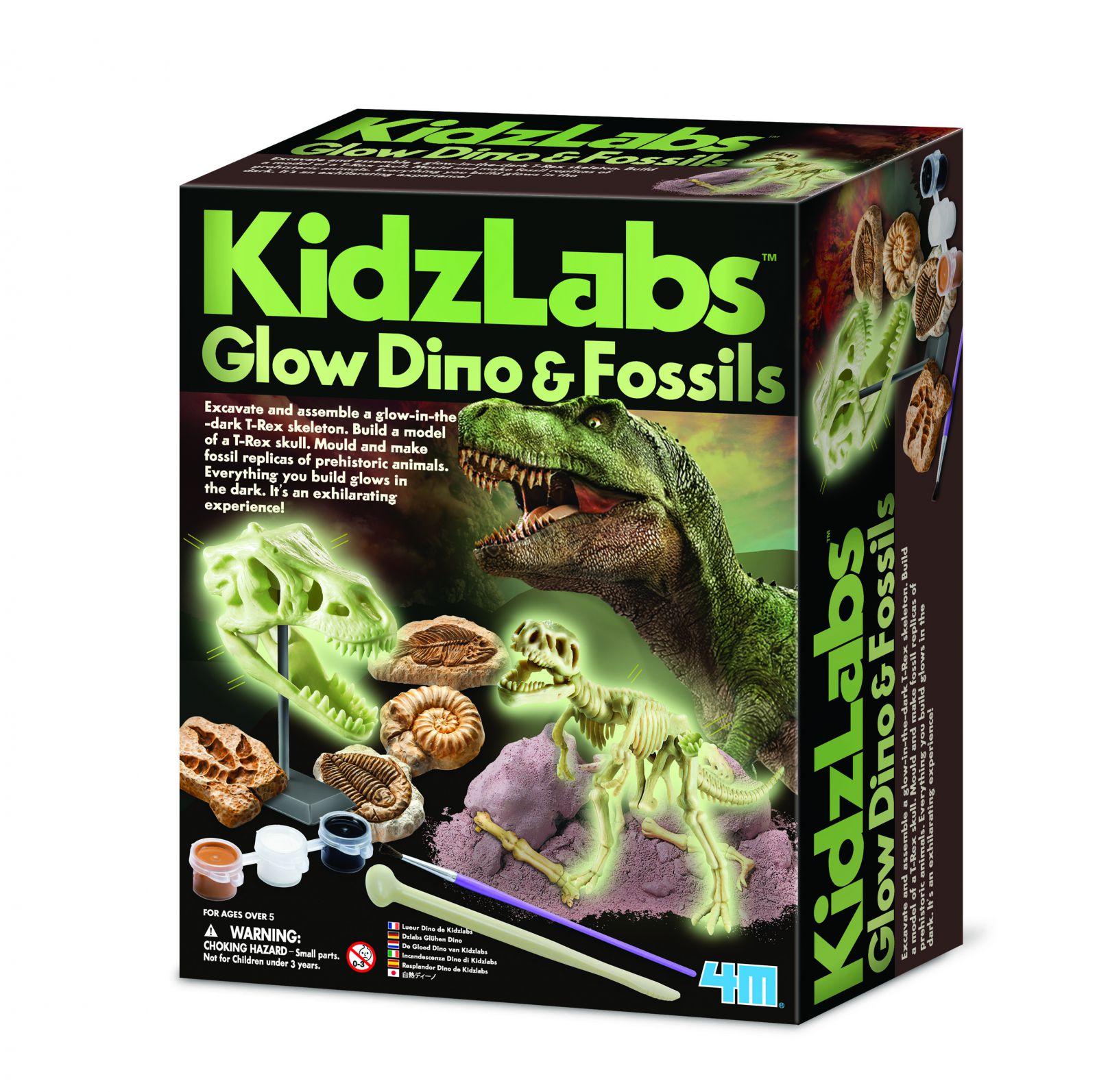 Playco Zářící dinosauři a fosi