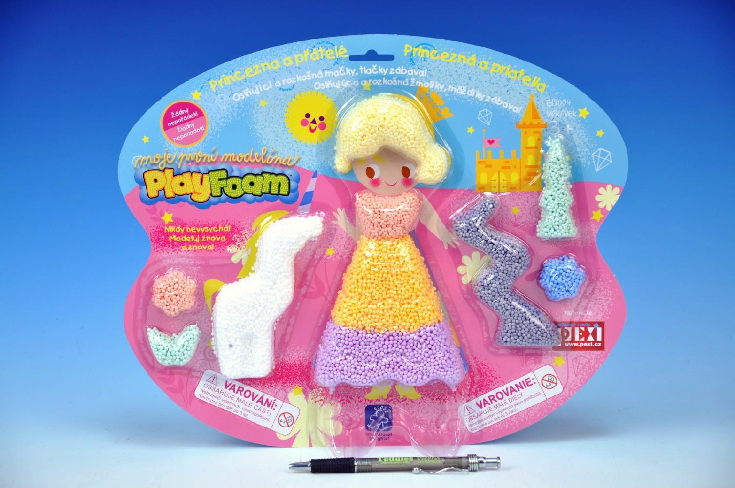 Modelína/Plastelína Princezna a přátelé kuličková Play Foam na kartě