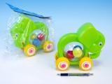 Slon s míčky tahací plast
