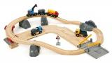 Výprodej - BRIO - Vláčkodráha s nákladním vlakem a silnicí