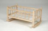 Kolébka pro panenky dřevo 49x28x27 cm