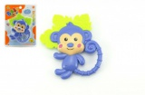 Chrastítko/kousátko opice 14cm