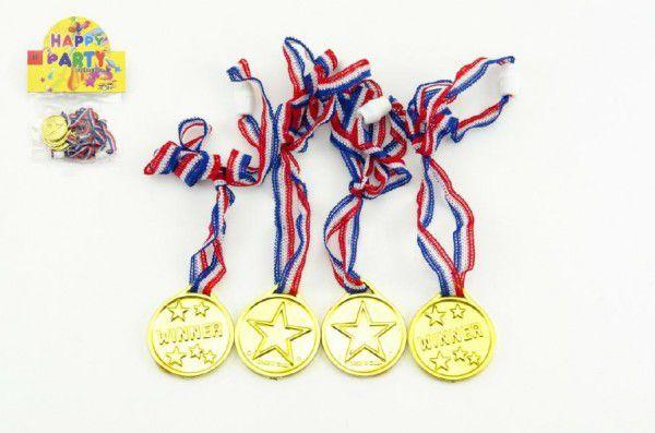 Medaile 4 cm 4 ks v sáčku