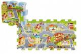 Pěnové puzzle Město 32x32x1 cm 8 ks v sáčku