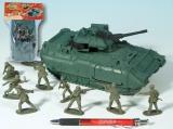 Zvětšit fotografii - Sada vojáci s tankem 21cm