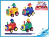 Traktor s pohyblivou figurkou  9cm setrvačník