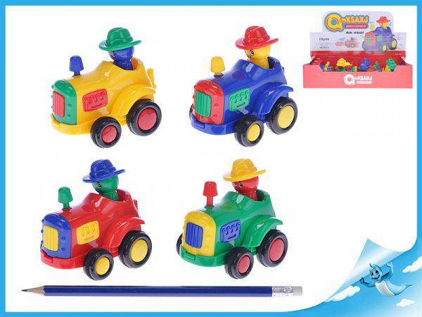 Traktor s pohyblivou figurkou