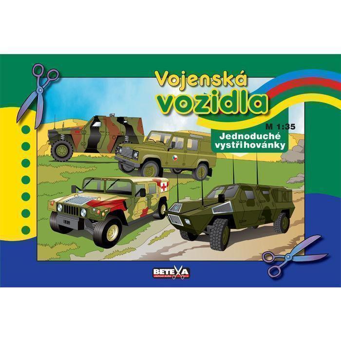 Vystřihovánka Vojenská vozidla