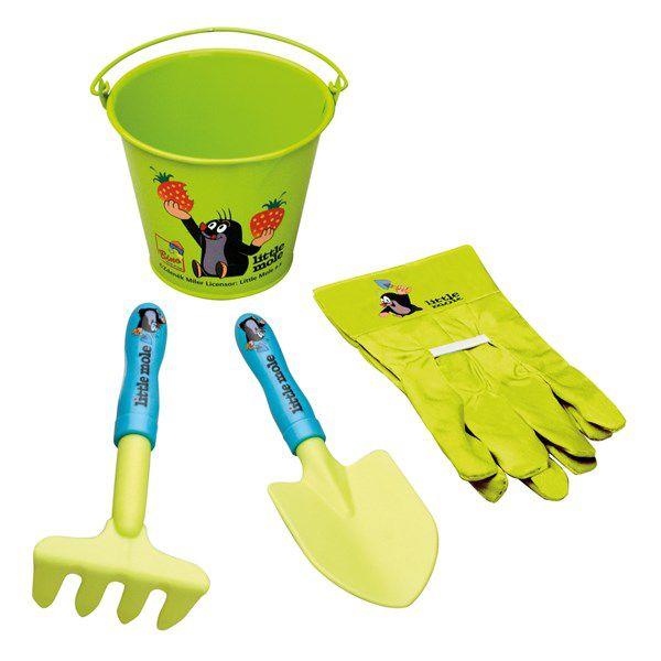 Zahradní nářadí dětské s kbelíkem