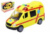 Auto Ambulance plast 14,5cm na baterie