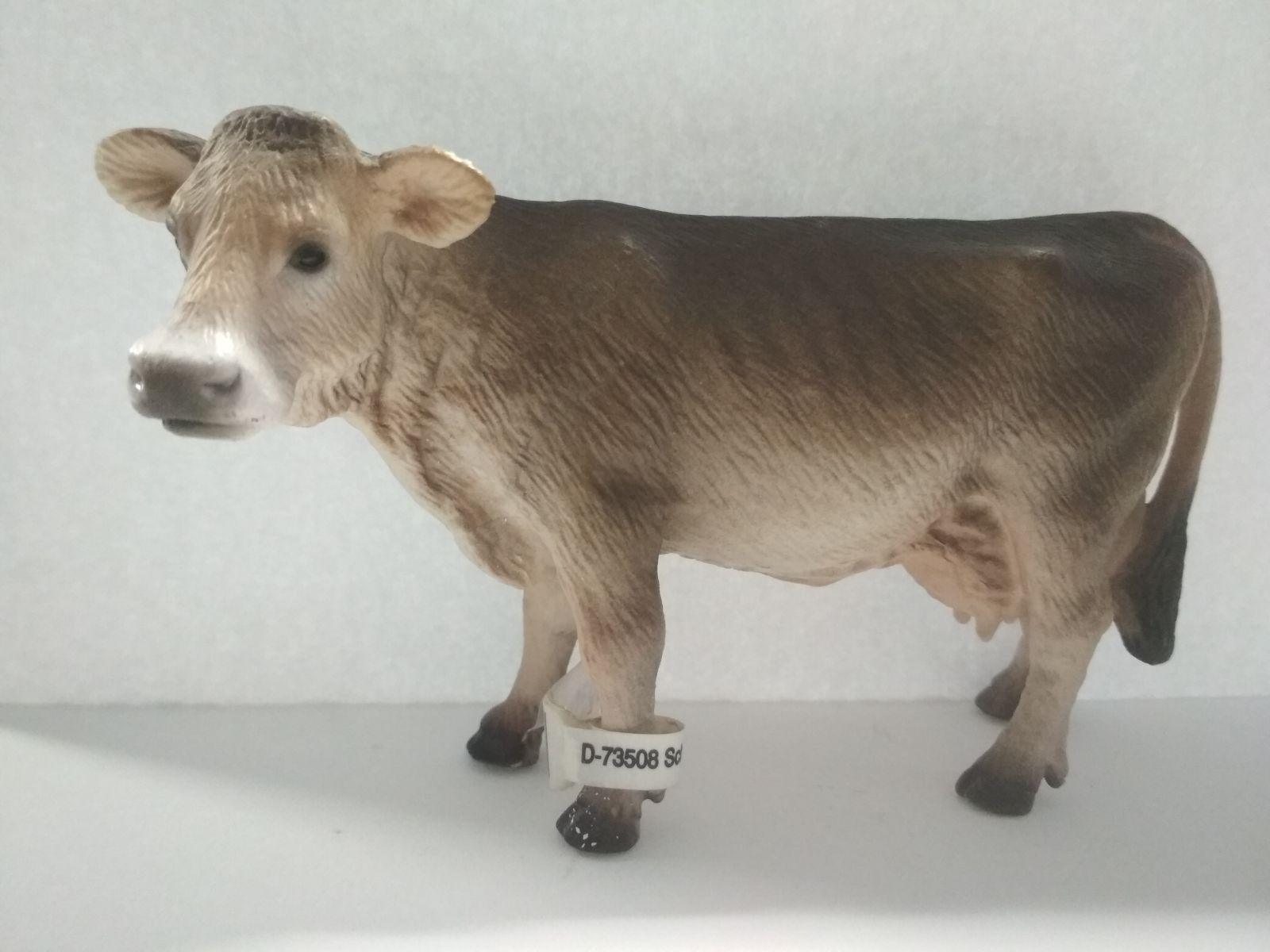 Schleich Zvířátko-švýcarská kráva hnědá