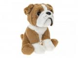Pes Bulldog sedící 16cm