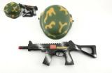 Vojenská sada helma přilba samopal