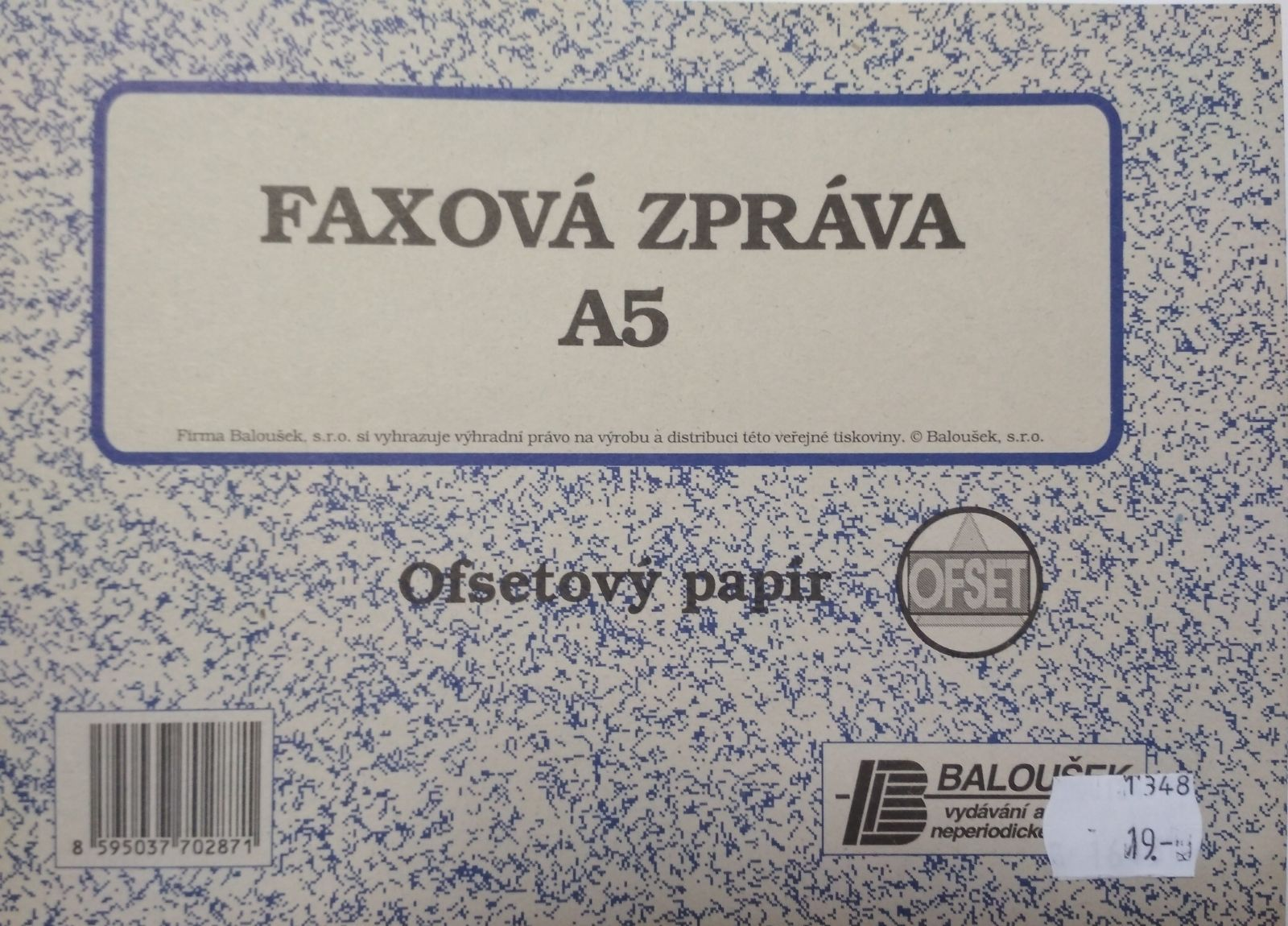 Faxová zpráva