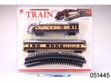 Vlaková souprava s kolejemi