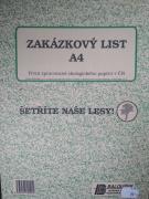 Zakázkový list A4