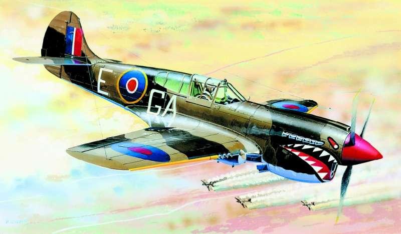 SM875 - Letadlo Curtiss P-40K