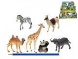 Zvířátka safari 7,5-15 cm 6 druhů