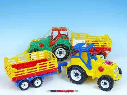 Plastový traktor s vlekem Farmer