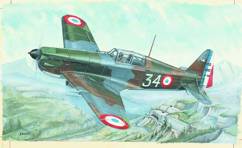 SM849 - Letadlo Morane Saulnier MS 406
