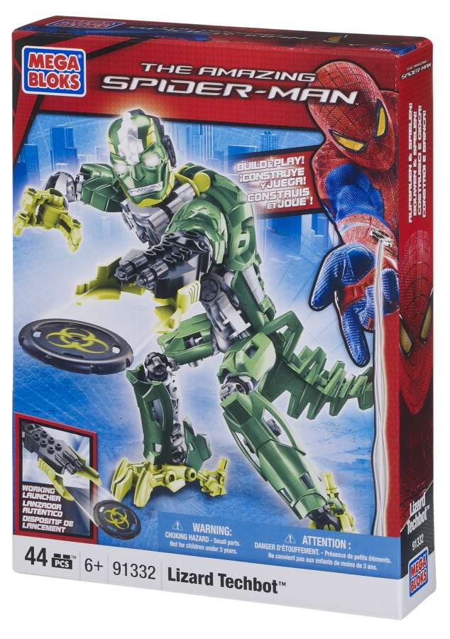 Image of MEGA BLOKS Spiderman Lizard Techbot 91332
