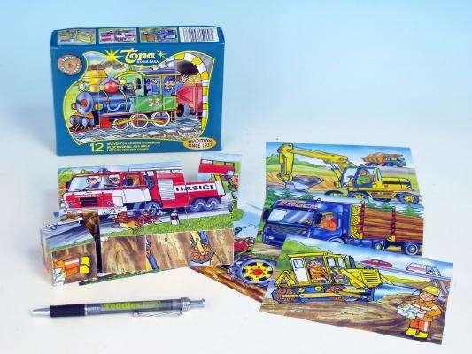 Kostky dřevěné Mašinka 12ks
