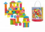 Stavebnice kostky barevné - pastelové, 75 dílů