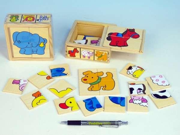 Puzzle dřevěné zvířátka 2druhy