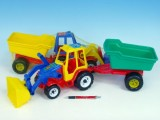 Traktor s vlekem a radlicí