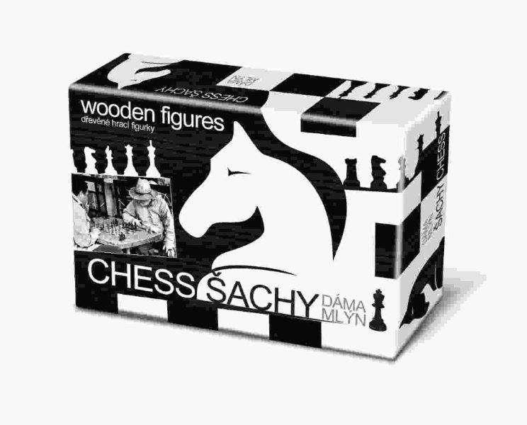 Bonaparte - Šachy dáma mlýn černobílé