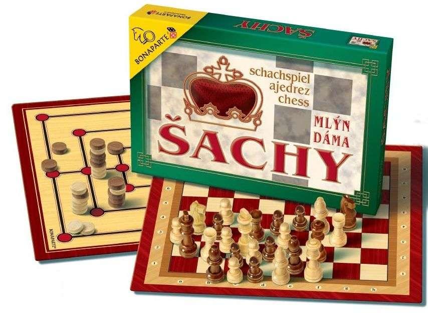 Bonaparte - Šachy dáma mlýn dřevěné