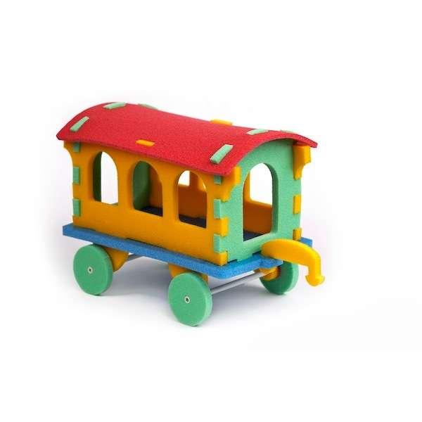 Pěnové puzzle - Vagón 3D
