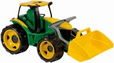 Traktor se lžící zelenožlutý