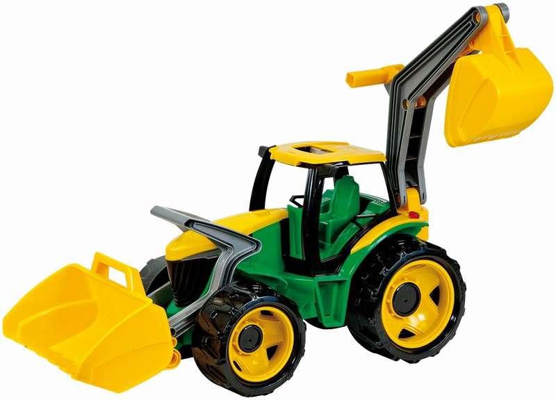 Lena - Traktor se lžící a bagrem zelenožlutý